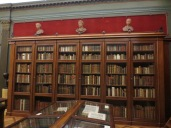 Part of the collection of books ranging from medieval illuminated manuscripts to nineteenth-century reference volumes
