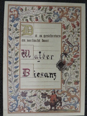 A sort-of calligraphied and illuminated page