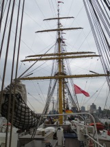 The rigging of the Gorch Fock