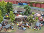 Apparently, there's a hippie encampment near the Hamburg railroad tracks. I somehow missed that