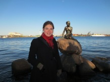 "Copenhagen's famous ""Little Mermaid"" statue, inspired by the Andersen story"