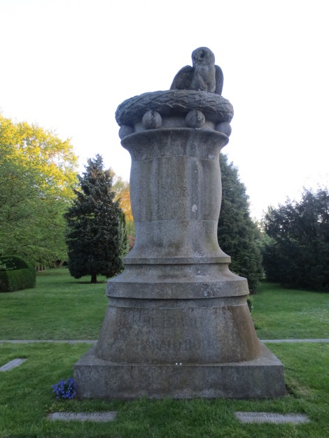 Not an author or philosopher, but kind of important: the grave of Niels Bohr