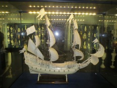 Model ship made entirely of ivory (in the treasury)