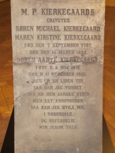 Kierkegaard's original gravestone, now in the Museum of Copenhagen