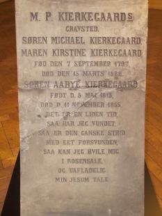 Kierkegaard's original gravestone, now in the Museum of Copenhagen