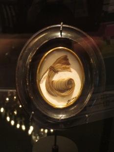The only remaining lock of Kierkegaard's hair, in the Museum of Copenhagen