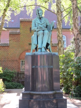 Statue of Kierkegaard in the Royal Library Garden---which, incidentally, is so gorgeous that I would definitely recommend it as a location to sit outside and read Kierkegaard