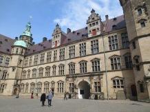 Kronborg Castle in Helsingor, as seen from the courtyard