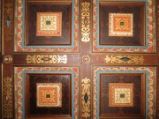 The ballroom had a ceiling like this too, but it was destroyed in a fire in the early 1600s. Only the chapel survived entirely intact