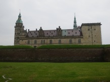 Kronborg Castle in Helsingor, as seen from across one of the moats