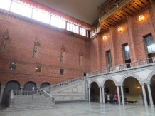 The Blue Hall. The bricks were originally going to be painted blue. By the time the architect decided he liked the red, the name had stuck. This is where the Nobel Prize banquet is held