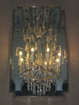 Wall chandelier in the Prince's Gallery. It's actually only half a chandelier, plus a mirror