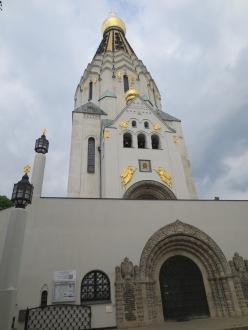 The shiny Russian church