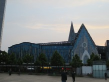 A new university building, which incorporates some aspects of the church that used to stand there