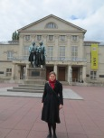 I stood with Goethe and Schiller in front of the Nationaltheater