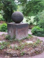 """The """"good luck stone"""" in Goethe's summer house garden"""