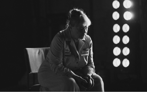 Ursula Werner as Mother Courage. Photo: Julian Baumann