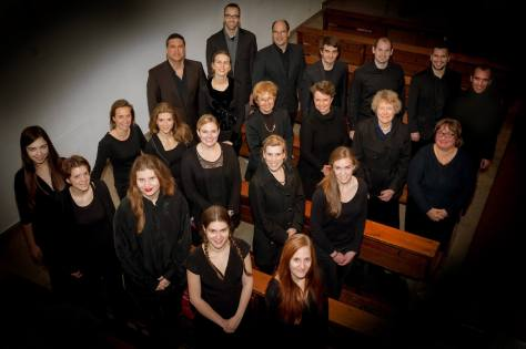 Munich Vocal Arts Society, earlier this year. (We've gained and lost a few members since.) I'm in the front with the braids