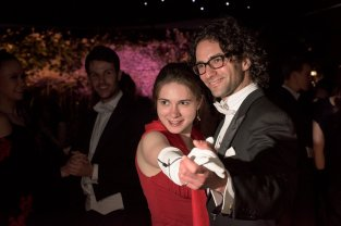 Waltzing with Jonathan, another Gates-Cambridge alum who lives in Munich. Photo by Johannes Hjorth (http://photo.johanneshjorth.se/magdalene-may-ball/)