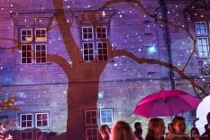 Projections show. Photo by Johannes Hjorth (http://photo.johanneshjorth.se/magdalene-may-ball/)