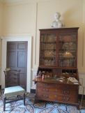 A wonderful bookcase-desk in the study