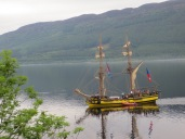 There's a ship on the Loch!