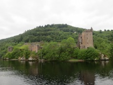 Urquhart Castle, as seen from the Loch