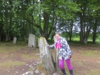 Sadly, this split stone in the circle did not send me back to the eighteenth century