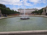 Mirabell Palace, seen through the fountain